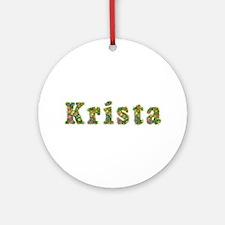 Krista Floral Round Ornament