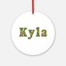 Kyla Floral Round Ornament