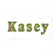 Kasey Floral Aluminum License Plate