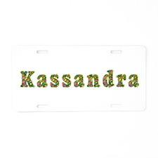 Kassandra Floral Aluminum License Plate
