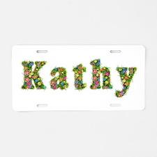 Kathy Floral Aluminum License Plate