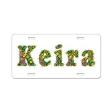 Keira Floral Aluminum License Plate