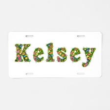 Kelsey Floral Aluminum License Plate