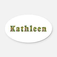 Kathleen Floral Oval Car Magnet