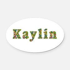 Kaylin Floral Oval Car Magnet