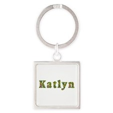 Katlyn Floral Square Keychain
