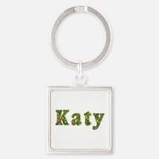 Katy Floral Square Keychain