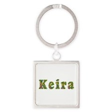 Keira Floral Square Keychain