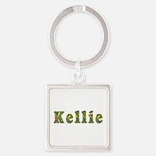 Kellie Floral Square Keychain