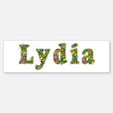 Lydia Floral Bumper Bumper Bumper Sticker