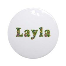 Layla Floral Round Ornament