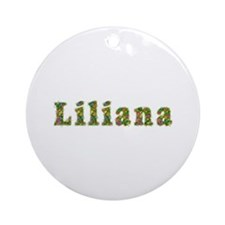 Liliana Floral Round Ornament
