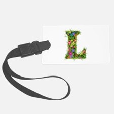 L Floral Luggage Tag