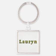 Lauryn Floral Square Keychain