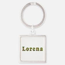 Lorena Floral Square Keychain
