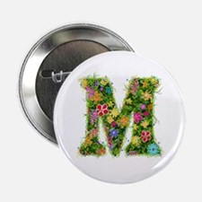 M Floral Button