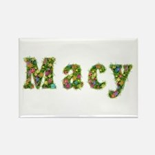 Macy Floral Rectangle Magnet