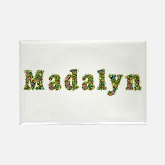 Madalyn Floral Rectangle Magnet