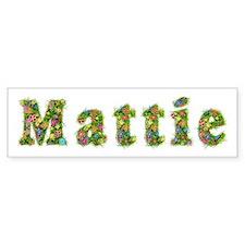 Mattie Floral Bumper Bumper Bumper Sticker