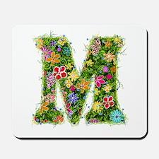 M Floral Mousepad