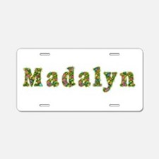 Madalyn Floral Aluminum License Plate