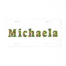 Michaela Floral Aluminum License Plate
