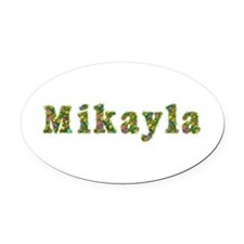Mikayla Floral Oval Car Magnet