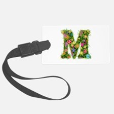 M Floral Luggage Tag