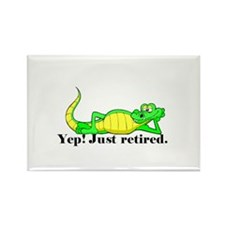 'Just Retired.:-)' Rectangle Magnet