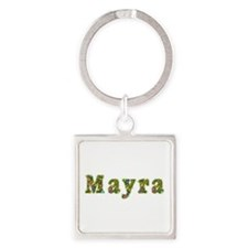 Mayra Floral Square Keychain
