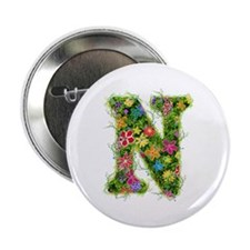 N Floral Button