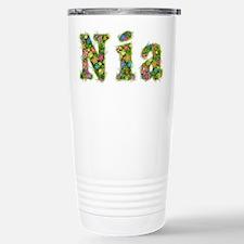 Nia Floral Stainless Steel Travel Mug