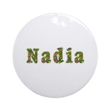Nadia Floral Round Ornament
