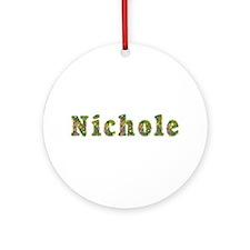 Nichole Floral Round Ornament