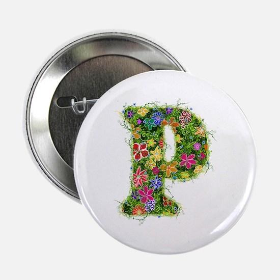 P Floral Button