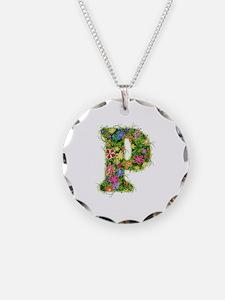 P Floral Necklace