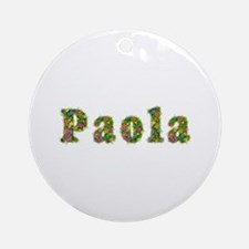 Paola Floral Round Ornament