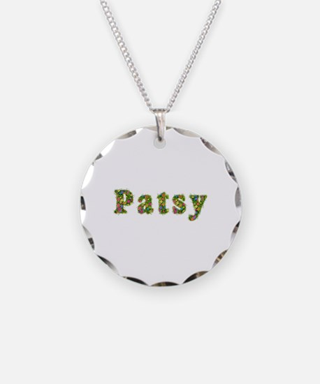 Patsy Floral Necklace Circle Charm