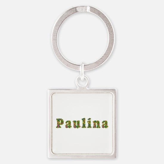 Paulina Floral Square Keychain