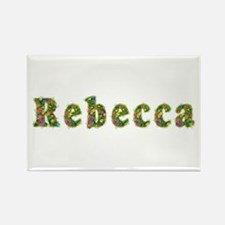 Rebecca Floral Rectangle Magnet