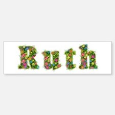 Ruth Floral Bumper Bumper Bumper Sticker