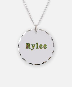 Rylee Floral Necklace Circle Charm