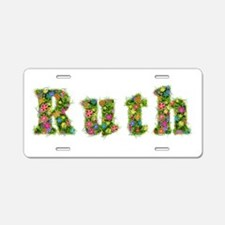 Ruth Floral Aluminum License Plate