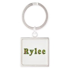 Rylee Floral Square Keychain