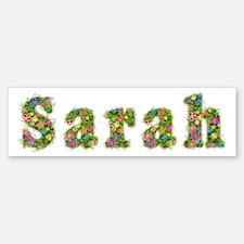 Sarah Floral Bumper Bumper Bumper Sticker