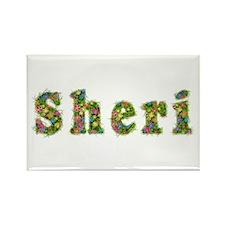 Sheri Floral Rectangle Magnet