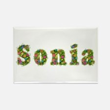 Sonia Floral Rectangle Magnet