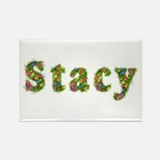 Stacy Floral Rectangle Magnet