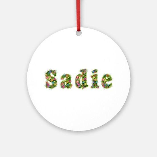 Sadie Floral Round Ornament