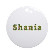 Shania Floral Round Ornament